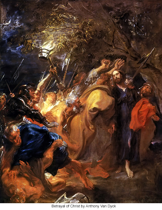 Betrayal of Christ by Anthony Van Dyck