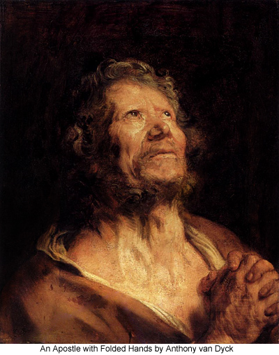 An Apostle with Folded Hands by Anthony van Dyck