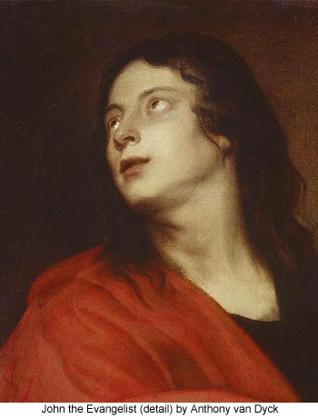 John the Evangelist (detail) by Anthony van Dyck