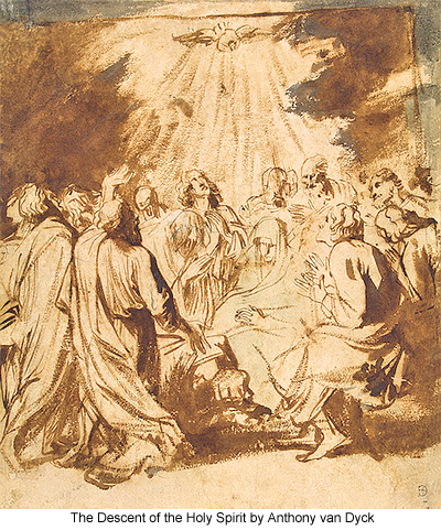 The Descent of the Holy Spirit by Anthony van Dyck