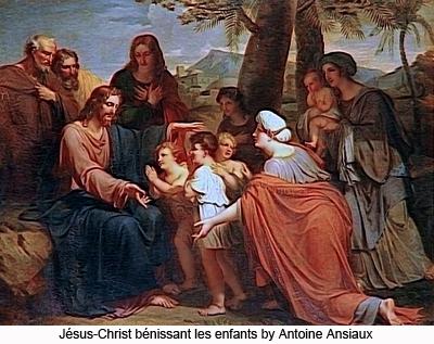 Jésus-Christ bénissant les enfants by Ansiaux Antoine