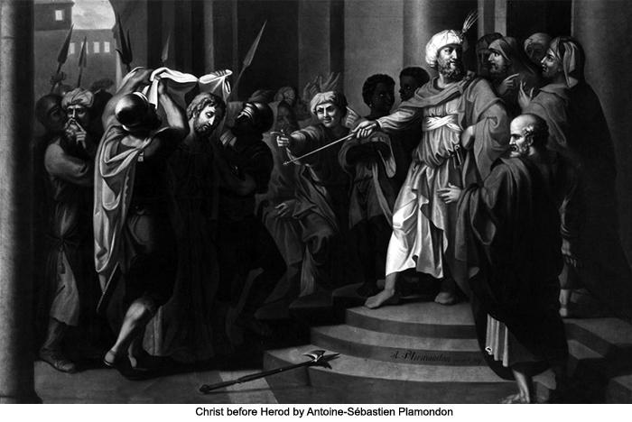 Christ before Herod by Antoine-Sébastien Plamondon