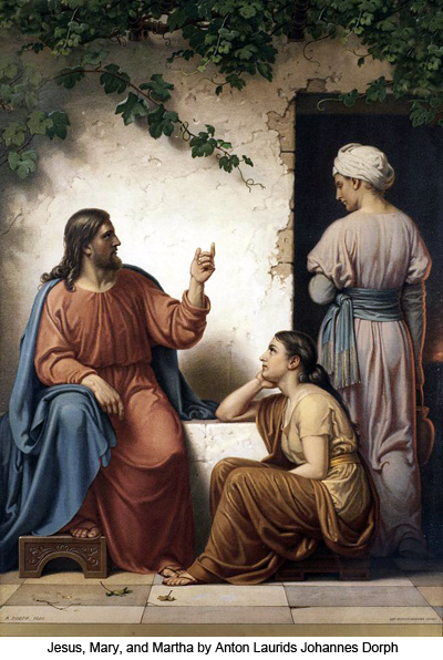 Jesus, Mary, and Martha by Anton Laurids Johannes Dorph