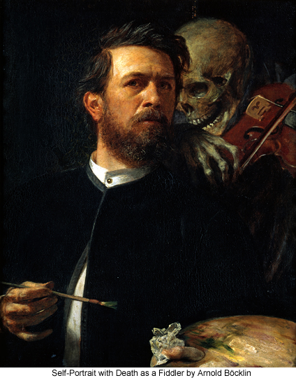 Self-Portrait with Death as a Fiddler by Arnold Böcklin