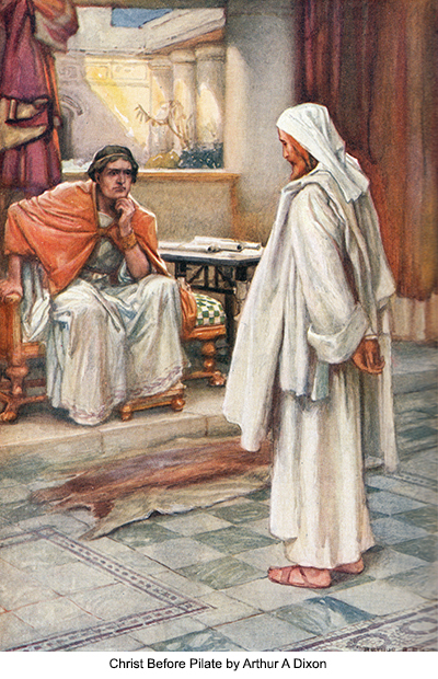 Christ Before Pilate by Arthur A Dixon