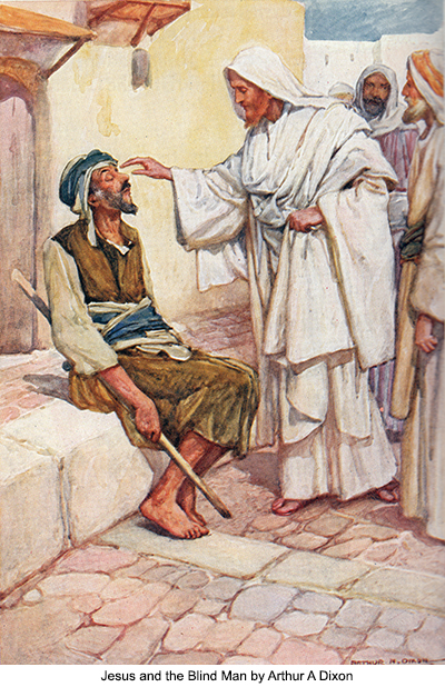Jesus and the Blind Man by Arthur A Dixon