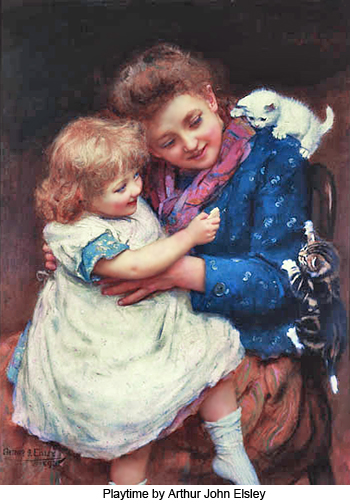 Playtime by Arthur John Elsley