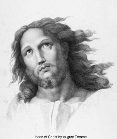 Head of Christ by August Temmel