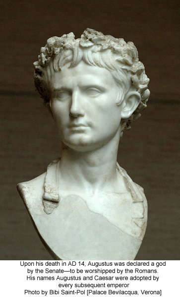 Emperor Augustus. Photo by Bibi Saint-Pol [Palace Bevilacqua, Verona]