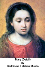 Mary (detail) by Bartolome Esteban Murillo