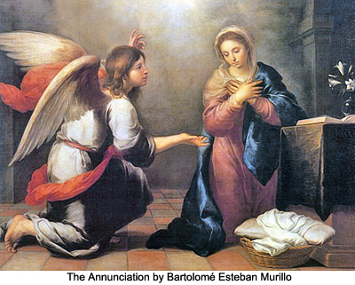The Annunciation by Bartolome Esteban Murillo