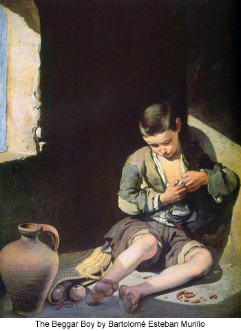 The Beggar Boy by Bartolome Esteban Murillo