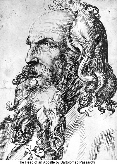 The Head of an Apostle by Bartolomeo Passarotti