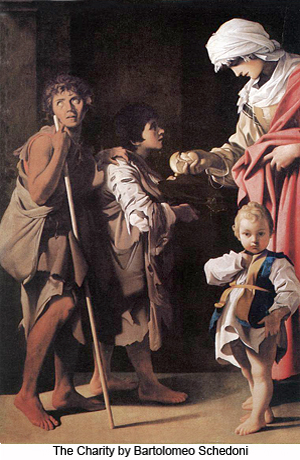 The Charity by by Bartolome Schedoni