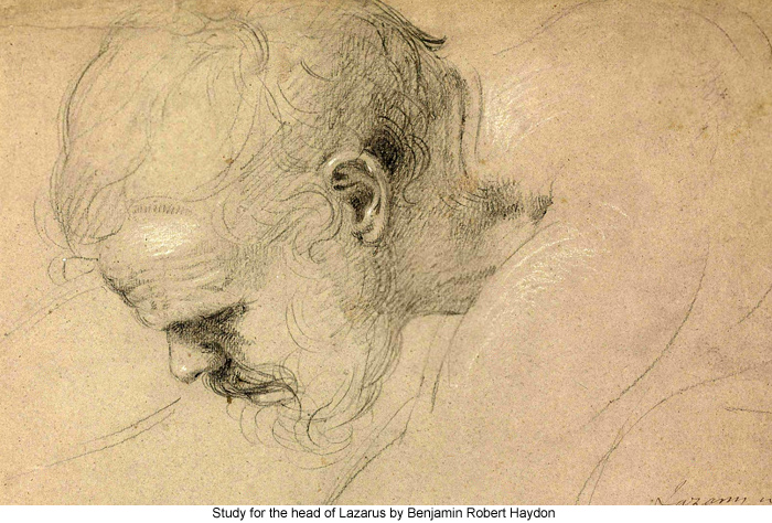 Study for the head of Lazarus by Benjamin Robert Haydon