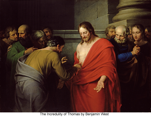 The Incredulity of Thomas by Benjamin West