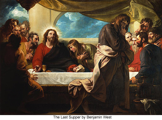 The Last supper by Benjamin West