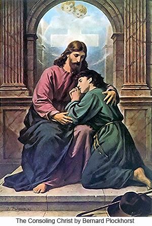 The Consoling Christ by Bernard  Plockhorst