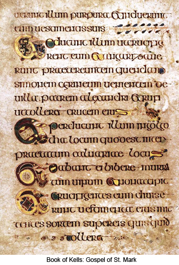 Gospel of St Mark - Book of Kells