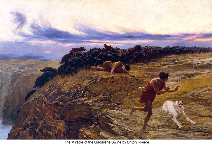 The Miracle of the Gadarene Swine by Briton Rivière
