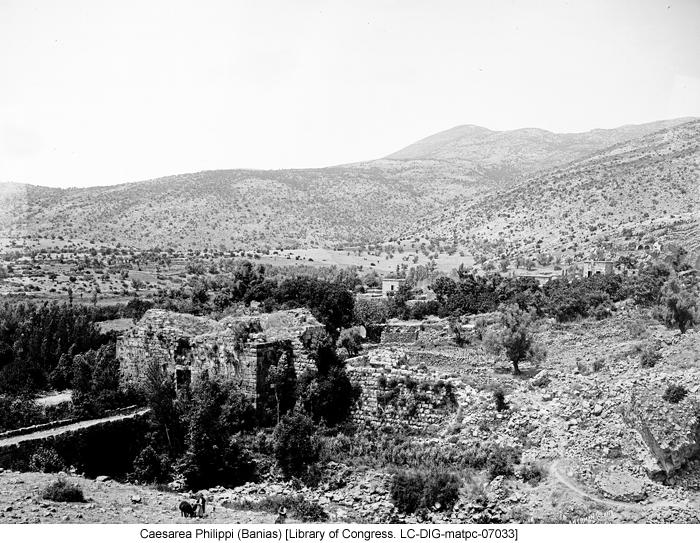Caesarea Philippi (Banias) [Library of Congress. LC-DIG-matpc-07033]