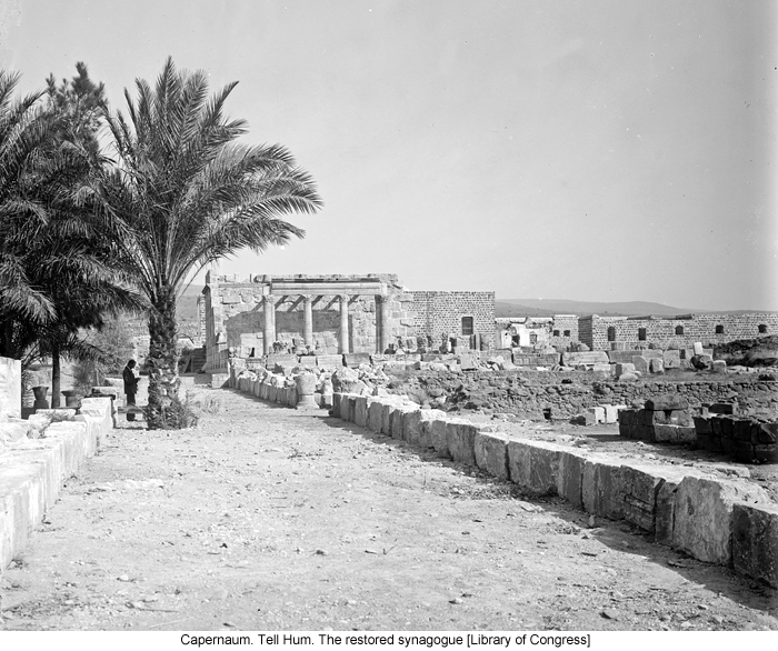 Capernaum. Tell Hum. The restored synagogue [Library of Congress]