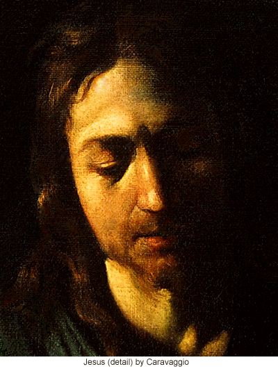 Jesus (detail) by Caravaggio