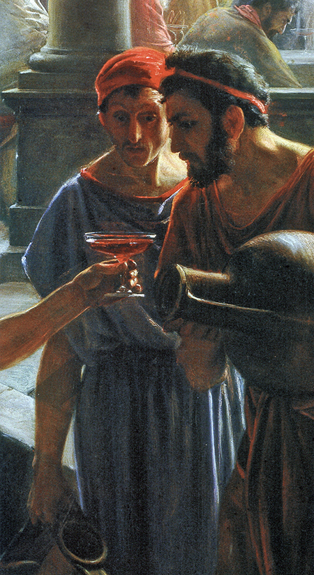 Jesus Changes Water to Wine (detail) by Carl Bloch