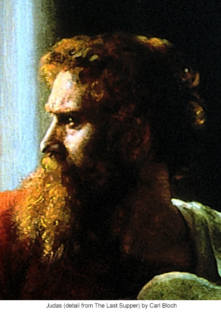 Judas (detail from The Last Supper) by Carl Bloch