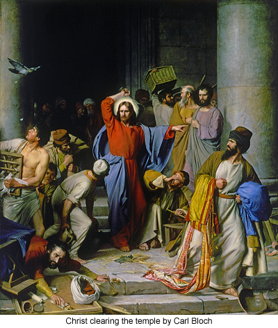 Christ Clearing the Temple by Carl Bloch