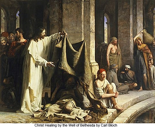 Christ Healing by the Well of Bethesda by Carl Bloch