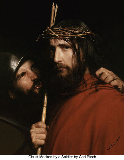 Christ Mocked by a Soldier by Carl Bloch