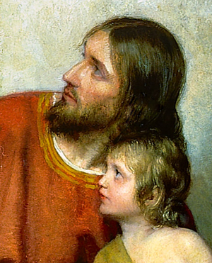 Christ with Child by Carl Bloch