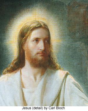 Christ in Emmaus (detail) by Carl Bloch