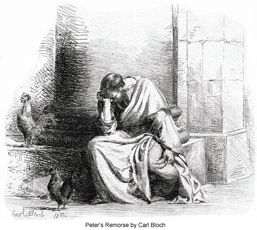 Peter's Remorse by Carl Bloch