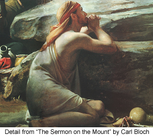 Detail from The Sermon on the Mount by Carl Bloch