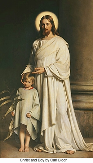 Christ and Boy by Carl Bloch