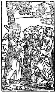 Christ teaches the disciples to pray