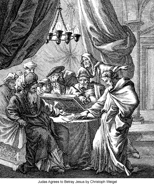 Judas Agrees to Betray Jesus by Christoph Weigel
