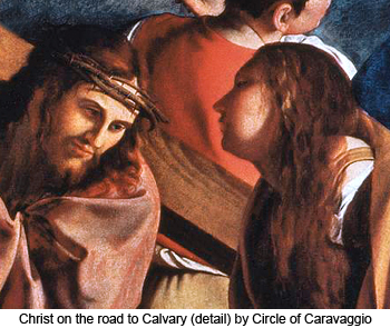 Christ on the Road to Calvary (detail) by Circle of Caravaggio