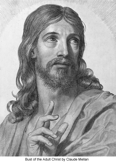 Bust of the Adult Christ by Claude Mellan
