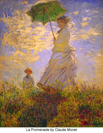 La Promenade by Claude Monet
