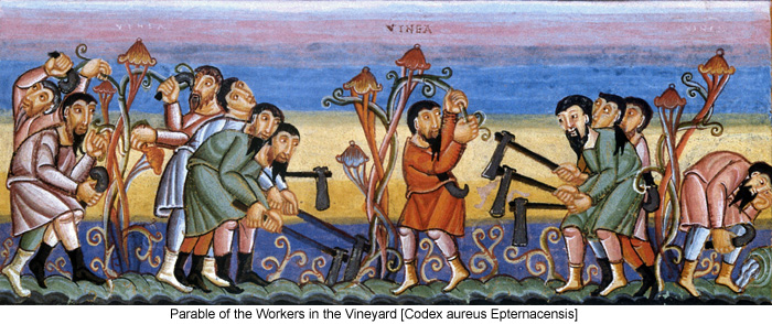 Parable of the Workers in the Vineyard [Codex aureus Epternacensis]