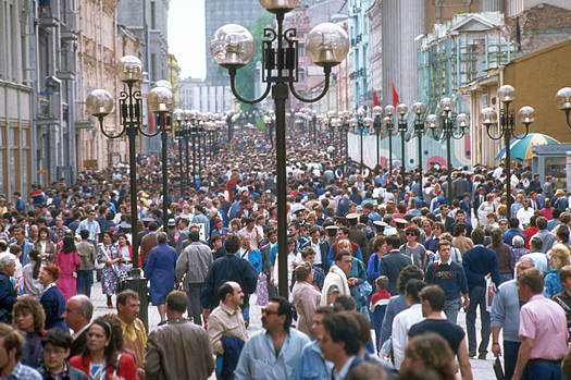 A street filled with people