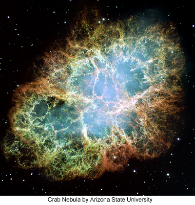 Crab Nebula by Arizona State University