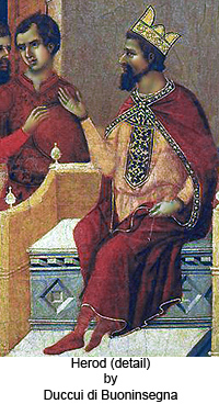 Herod (detail) by Duccui Buoninsegna