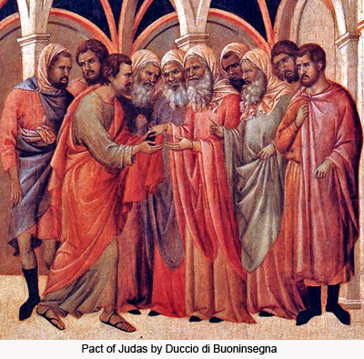 Pact of Judas by Duccio di Buoninsegna
