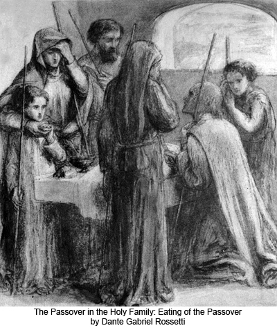 The Passover in the Holy Family: Eating of the Passover by Dante Gabriel Rossetti