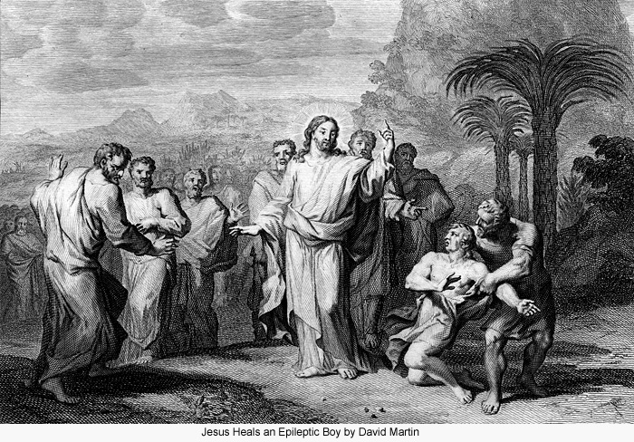 Jesus Heals an Epileptic Boy by David Martin