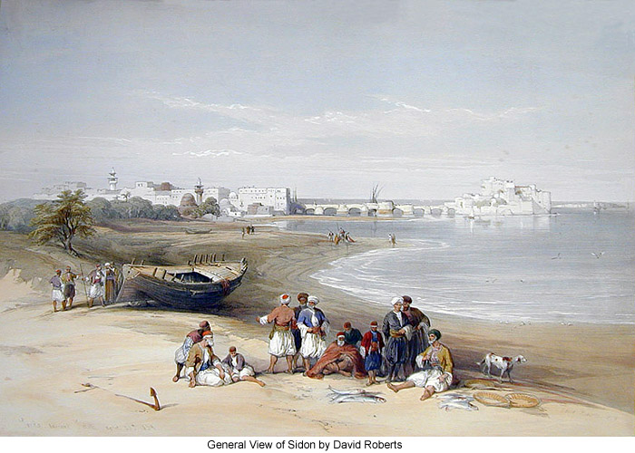 General View of Sidon by David Roberts